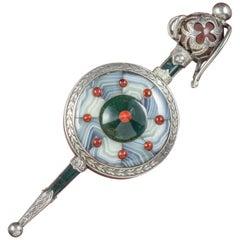 Antique Victorian Scottish Shield and Sword Brooch, circa 1860
