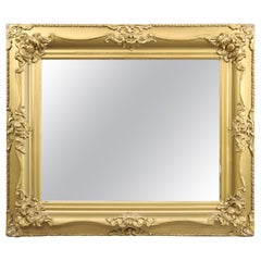 Antique Victorian Sculpted Foliate Gold Gilt Wall Mirror, circa 1890