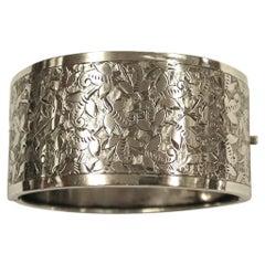 Antique Victorian Silver Bangle, James Fenton, Birmingham, 1883