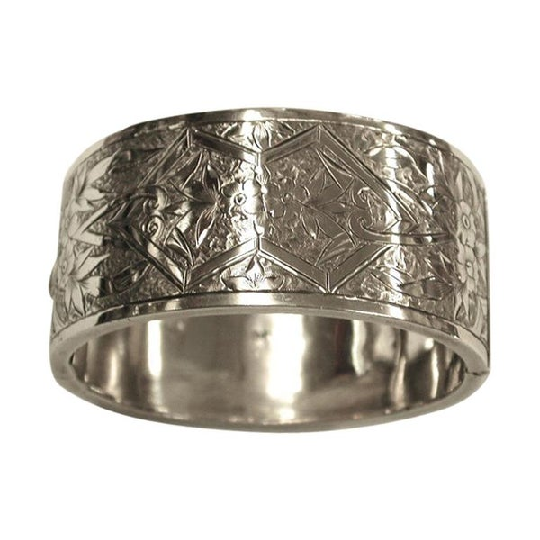 Antique Victorian Silver Bangle, William Walker, Birmingham, 1881