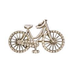 Antique Victorian Silver Bicycle Brooch