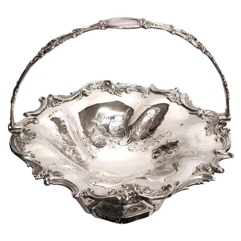 Antique Victorian Silver Cake Basket Dated 1838, Henry Wilkinson & Co, Sheffield