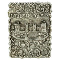 Antique Victorian Silver Card Case, Birmingham, 1852