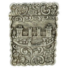 Antique Victorian Silver Card Case, Birmingham, 1852