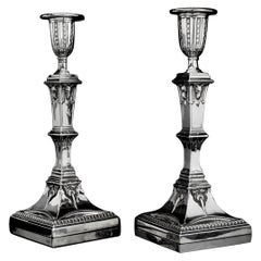 Antique Victorian Silver Filled Pair of Candlesticks