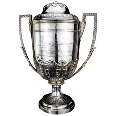 Antique Victorian Silver Large Trophy Cup