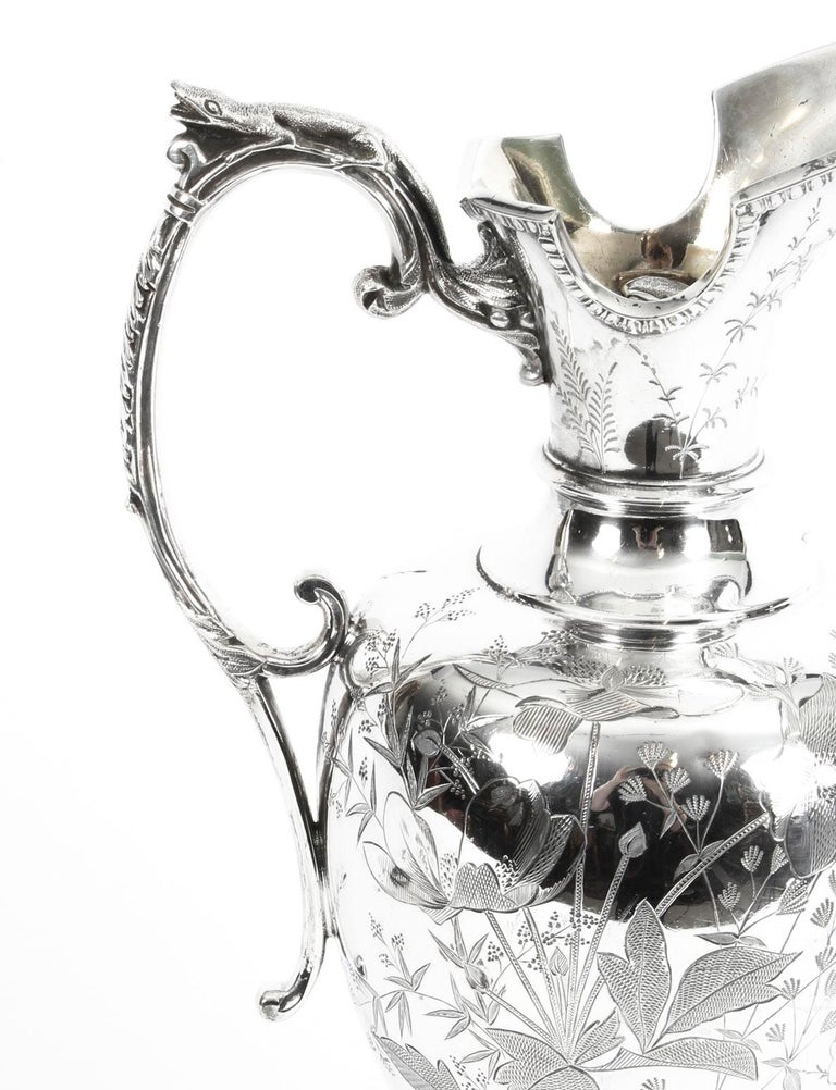 Antique Victorian Silver Plate Claret Jug by Atkin Brothers, 19th Century For Sale 2