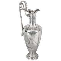 Antique Victorian Silver Plate Claret Jug by Elkington, 19th Century