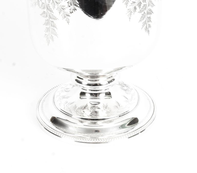 Antique Victorian Silver Plate Claret Jug by Martin Hall & Co., 19th Century For Sale 6