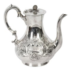 Antique Victorian Silver Plated Coffee Pot Boardman Glossop & Co, 19th Century
