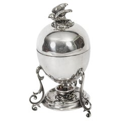 Antique Victorian Silver Plated Egg Coddler / Boiler, 19th Century