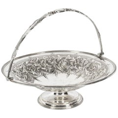 Antique Victorian Silver Plated Fruit Basket William Gallimore & Co, 19th C