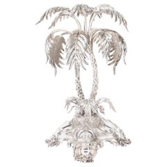 Antique Victorian Silver Plated Palm Tree Centrepiece Mappin & Webb 19th Century