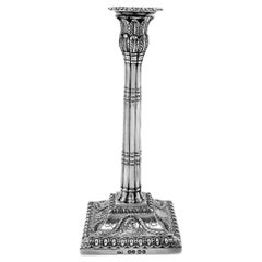 Antique Victorian Silver Taper Stick Candlestick 1867 Adams 18th Century Style