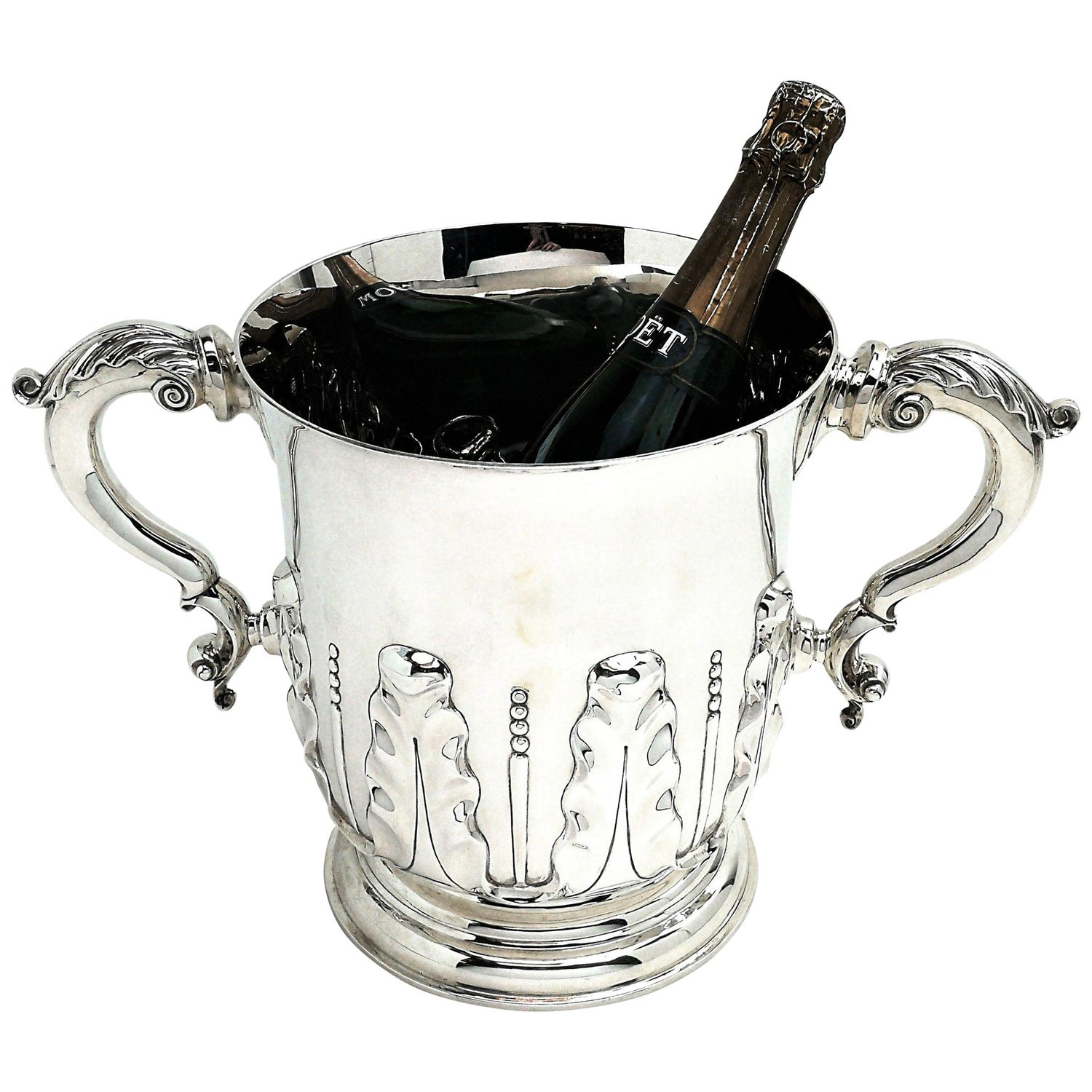 Antique Victorian Silver Two Handled Cup 1896 Champagne Wine Cooler