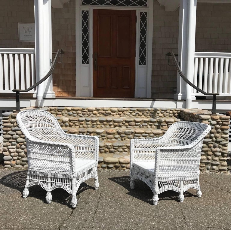 Antique Victorian Six Legged Wicker Chairs For Sale At 1stdibs