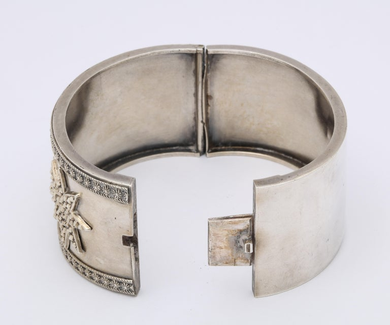 Antique Victorian Star Sterling Silver Cuff Bracelet For Sale 6