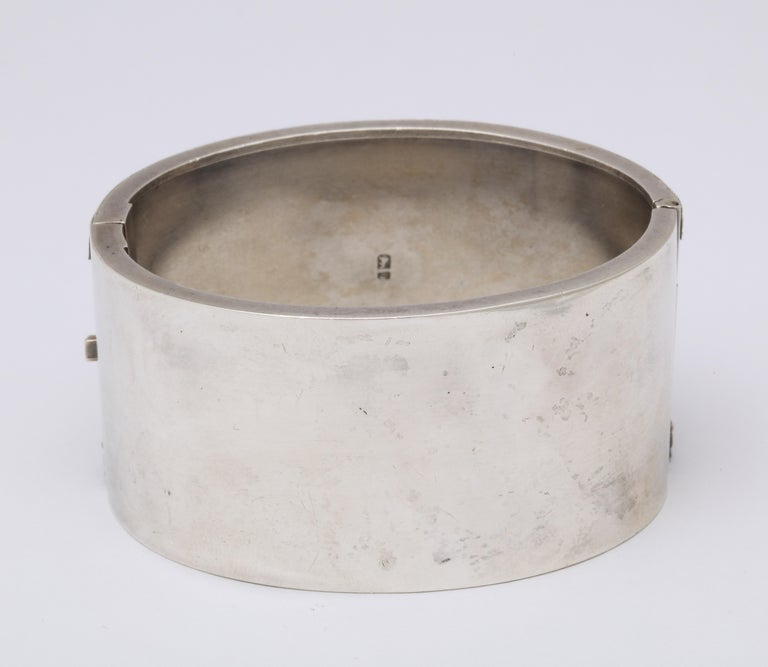 Antique Victorian Star Sterling Silver Cuff Bracelet For Sale 4