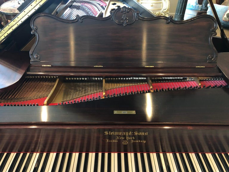 Antique Victorian Steinway Grand Piano For Sale 5