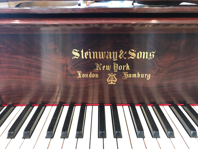 Late 19th Century Antique Victorian Steinway Grand Piano For Sale