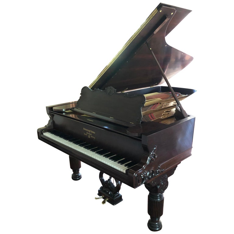 Antique Victorian Steinway Grand Piano For Sale