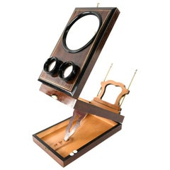 Antique Victorian Stereoscope and Postcard Viewer