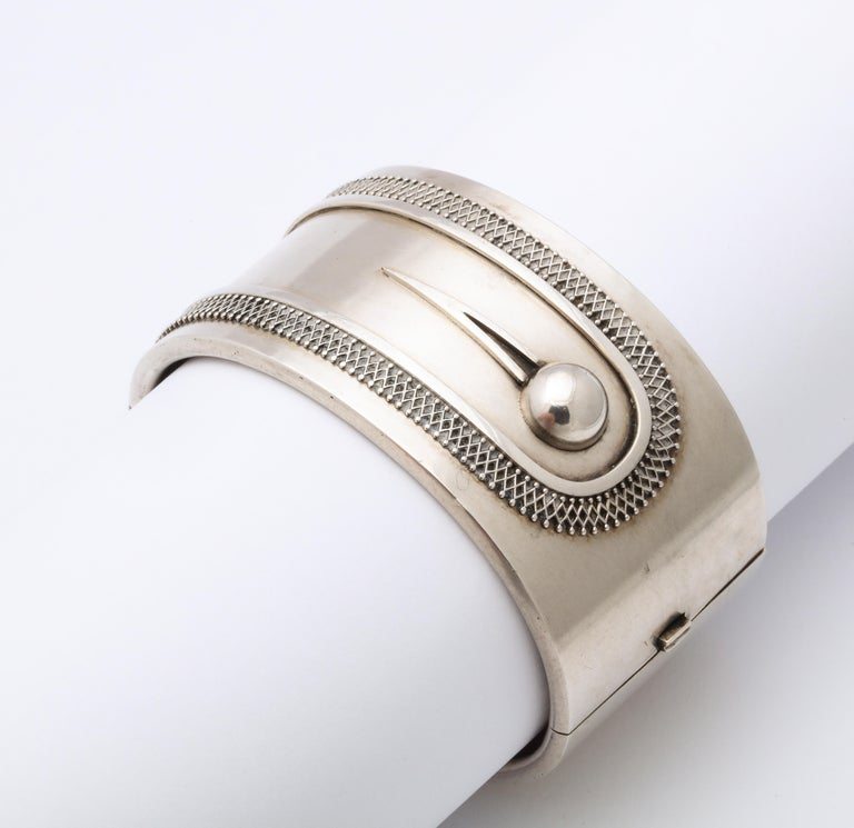 Antique Victorian Sterling Button Cuff Bracelet For Sale 1