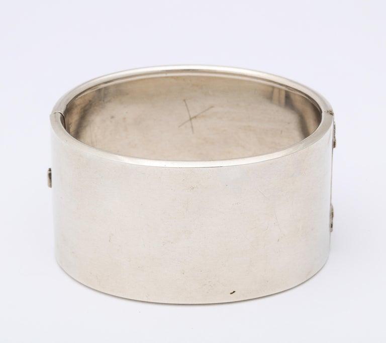 Antique Victorian Sterling Button Cuff Bracelet For Sale 3