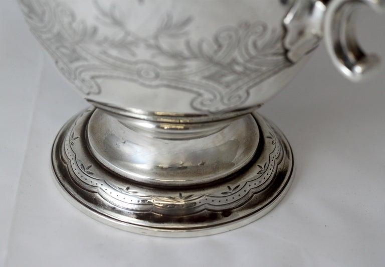Antique Victorian Sterling Silver 4 Piece Tea Set, by Elkington & Co Ltd, 1864 For Sale 5