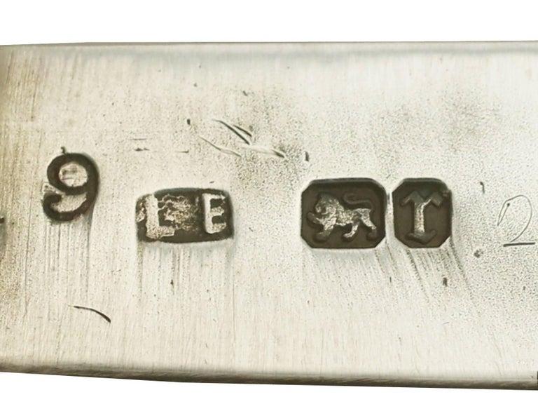 Antique Victorian Sterling Silver and Enamel Vesta Case For Sale 3