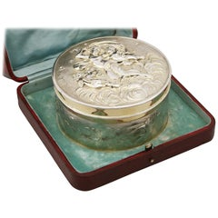 Antique Victorian Sterling Silver and Gilt Box