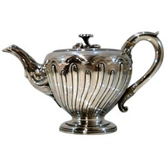 Antique Victorian Sterling Silver Bachelor Teapot London 1839 John Figg