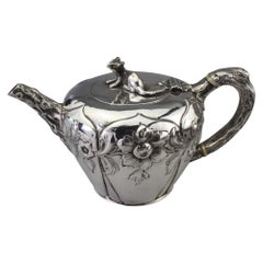 Antique Victorian Sterling Silver Bachelor's Tea Pot by William Moulson