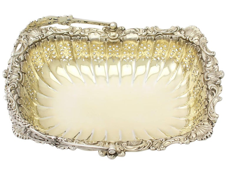 Antique Victorian Sterling Silver Basket In Excellent Condition For Sale In Jesmond, Newcastle Upon Tyne