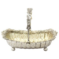 Antique Victorian Sterling Silver Basket