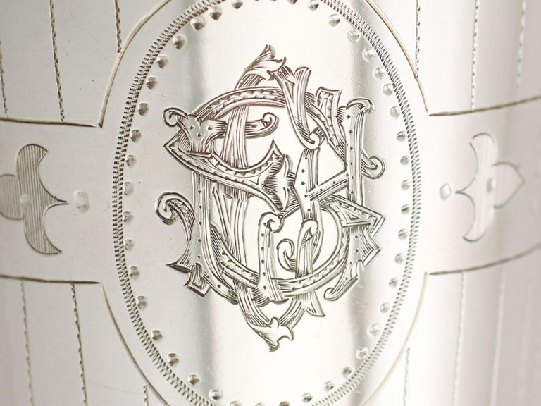 Antique Victorian Sterling Silver Beaker For Sale 5