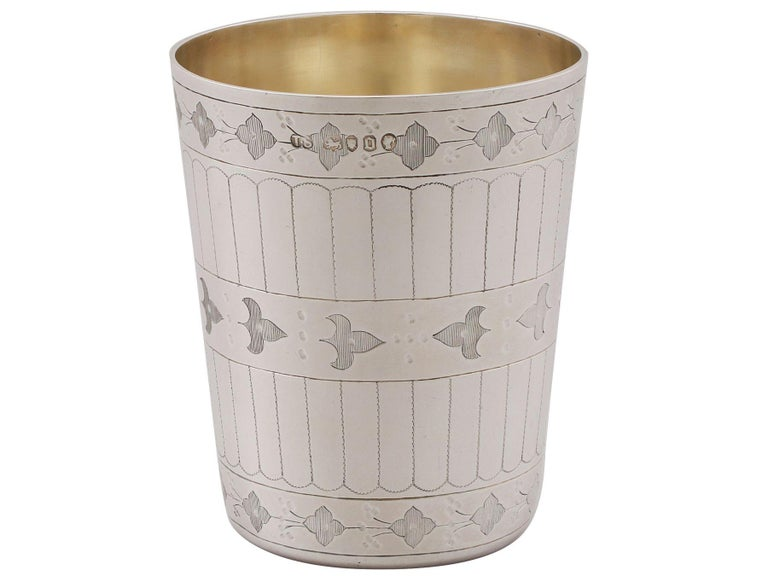 Antique Victorian Sterling Silver Beaker In Excellent Condition For Sale In Jesmond, Newcastle Upon Tyne