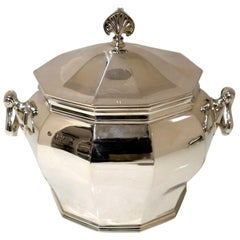 Antique Victorian Sterling Silver Biscuit Box London 1900 William Hutton & Sons