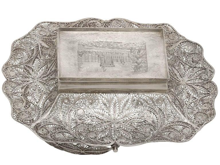 Antique Victorian Sterling Silver Bon Bon Basket, 1842 For Sale 3