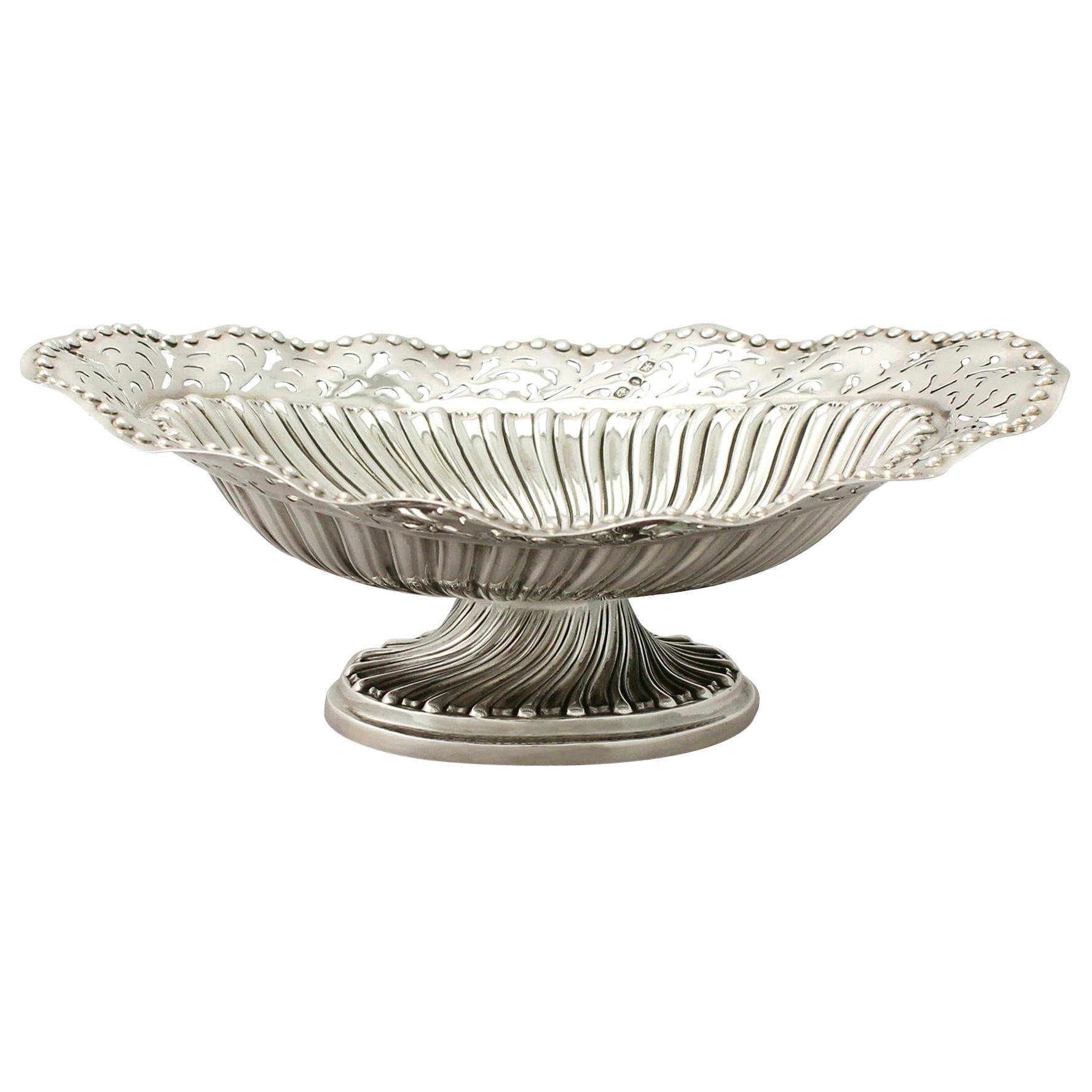 Antique Victorian Sterling Silver Bon Bon Dish