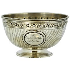 Antique Victorian Sterling Silver Bowl, London, 1871