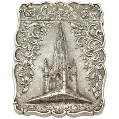 Antique Victorian Sterling Silver Card Case