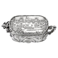 Antique Victorian Sterling Silver Castle-Top Vinaigrette Windsor Castle