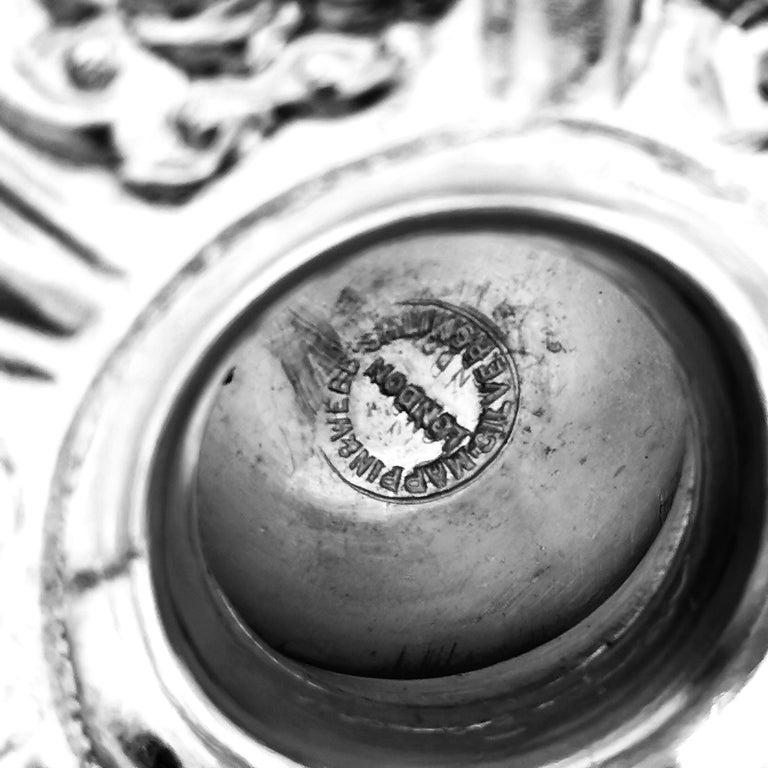 Antique Victorian Sterling Silver Cellini Jug Claret Jug Wine Pitcher 1889 For Sale 6