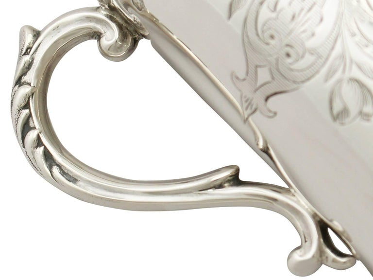Mid-19th Century Antique Victorian Sterling Silver Christening Mug For Sale