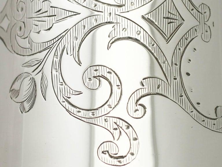 Antique Victorian Sterling Silver Christening Mug For Sale 1