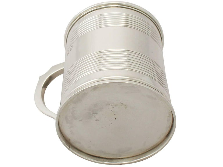 Antique Victorian Sterling Silver Christening Mug For Sale 3