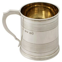 Antique Victorian Sterling Silver Christening Mug