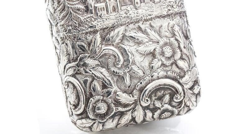 Antique Victorian Sterling Silver Cigar Case For Sale 3