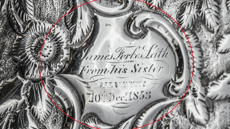 Antique Victorian Sterling Silver Cigar Case For Sale 7
